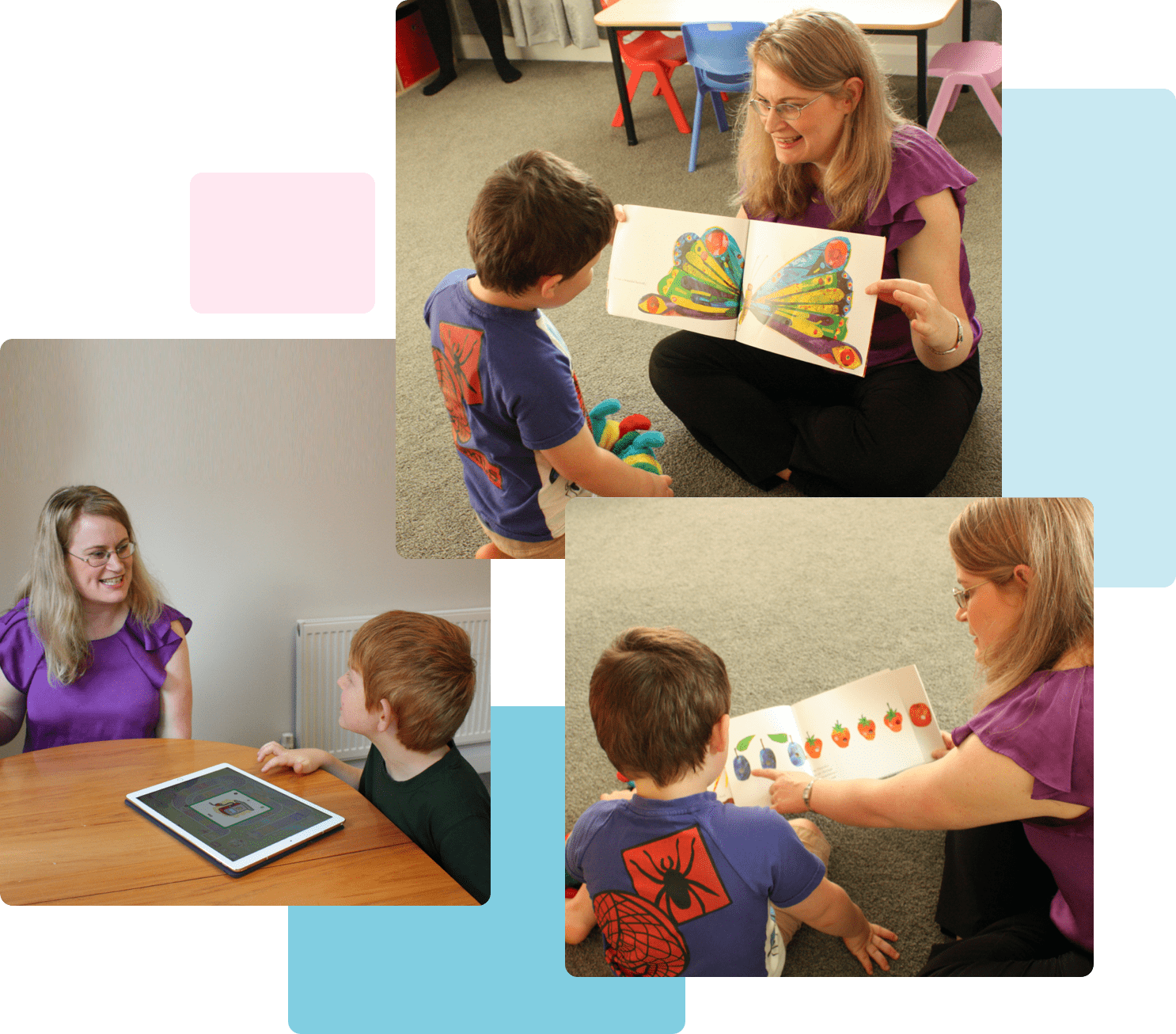 Speech-Language Therapy in Auckland, Wellington and Nationwide. Therapist working with children.